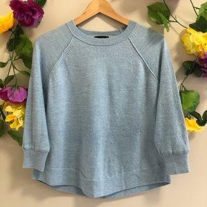 J. Crew 100% Merino Wool Swing Blue Sweater